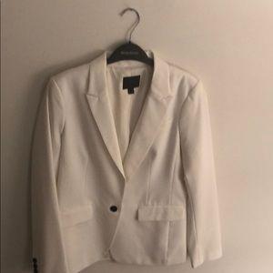 Banana Republic white blazer w/ black buttons